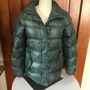 J Crew shiny down puffer jacket XXS